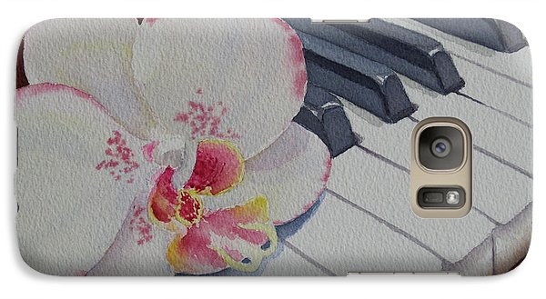 Galaxy Case featuring the painting The Orchids Song by Judy Mercer