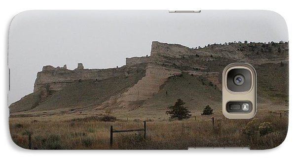 Galaxy Case featuring the photograph The Oregon Trail Scotts Bluff Nebraska by Christopher Kirby