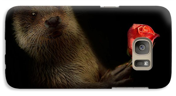 Galaxy Case featuring the photograph The Otter by Christine Sponchia