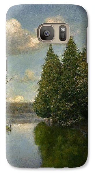Galaxy Case featuring the painting The Outlet by Wayne Daniels