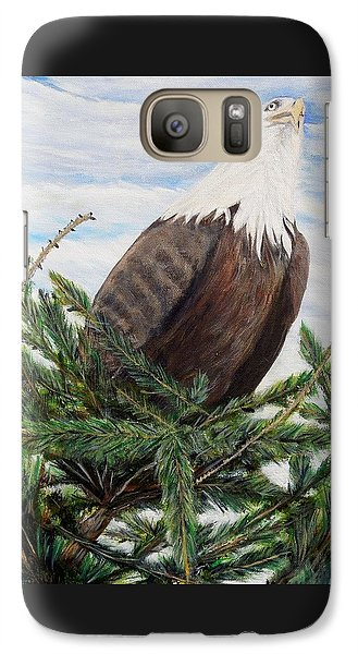 Galaxy Case featuring the painting The Oversee'er by Marilyn  McNish