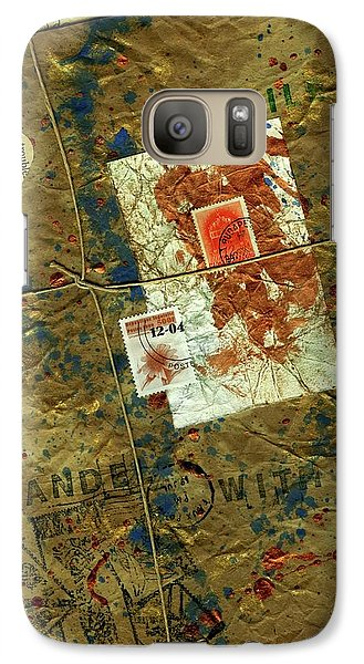 Galaxy Case featuring the mixed media The Package by P J Lewis