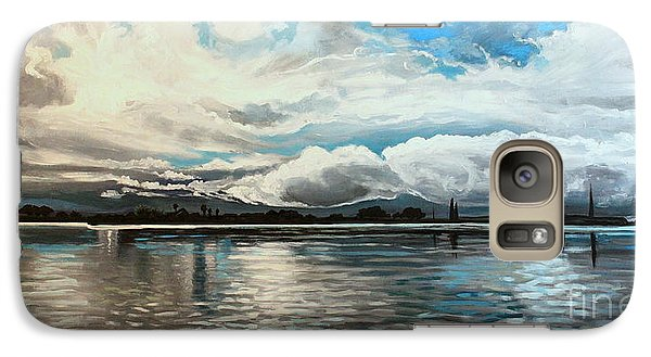 Galaxy Case featuring the painting The Panoramic Painting by Elizabeth Robinette Tyndall