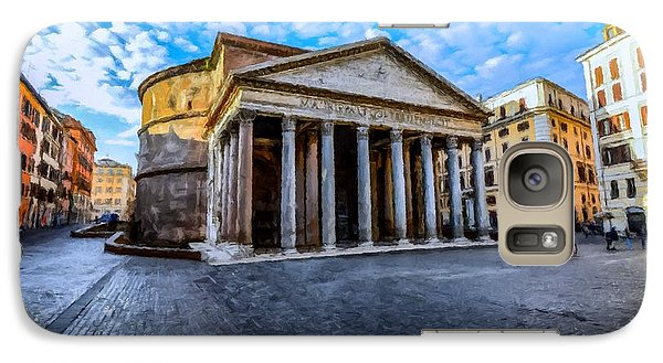 Galaxy Case featuring the painting The Pantheon Rome by David Dehner