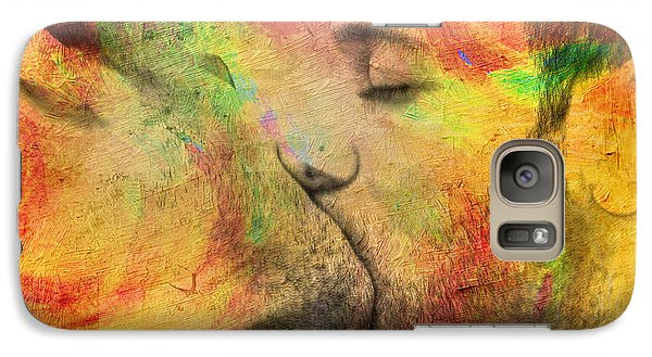 Nudes Galaxy S7 Case - The Passion Of A Kiss 1 by Mark Ashkenazi
