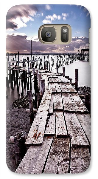 Galaxy Case featuring the photograph The Path by Jorge Maia