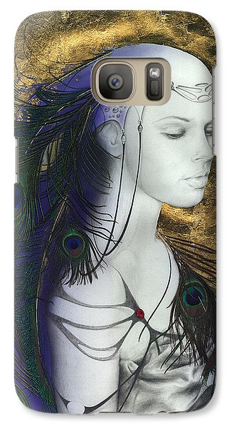 Galaxy Case featuring the painting The Peacock Queen by Ragen Mendenhall