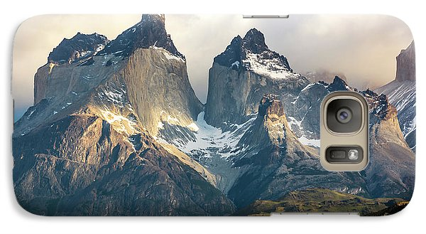 Galaxy Case featuring the photograph The Peaks At Sunrise by Andrew Matwijec