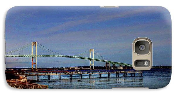 Galaxy Case featuring the photograph The Pell Bridge Newport Ri by Tom Prendergast