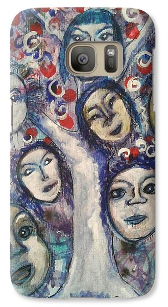 Galaxy Case featuring the painting The People Tree by Mimulux patricia no No