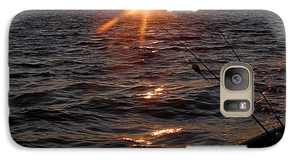 Galaxy Case featuring the photograph The Perfect Ending - After A Good Day Of Fishing by Angie Rea