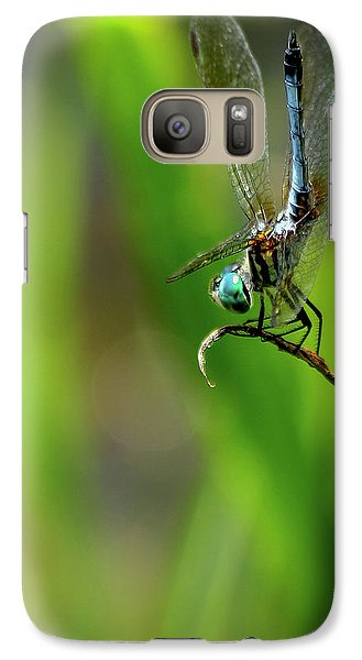 Galaxy Case featuring the photograph The Performer Dragonfly Art by Reid Callaway