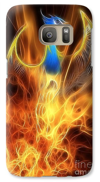 The Phoenix Rises From The Ashes Galaxy S7 Case by John Edwards