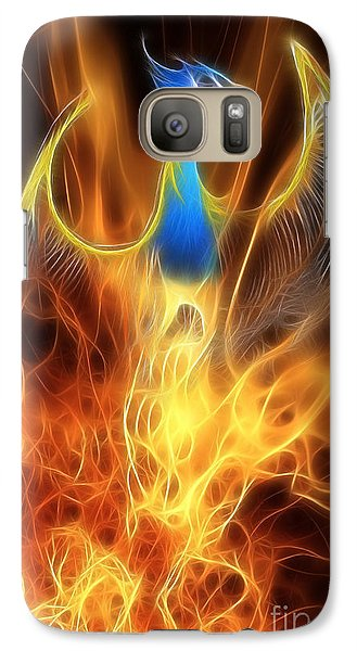 The Phoenix Rises From The Ashes Galaxy Case by John Edwards
