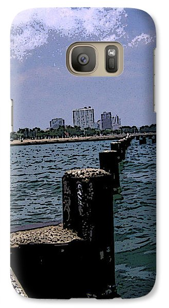 Galaxy Case featuring the photograph The Pier by Skyler Tipton