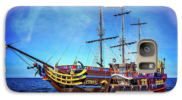 Galaxy Case featuring the photograph The Pirate Ship Ustka In Sopot  by Carol Japp