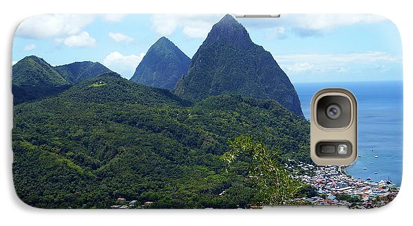 Galaxy Case featuring the photograph The Pitons, St. Lucia by Kurt Van Wagner