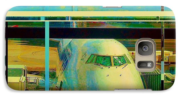 Galaxy Case featuring the mixed media The Plane 2 by Andrew Drozdowicz