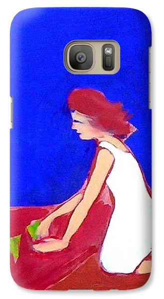Galaxy S7 Case featuring the painting The Planting by Winsome Gunning