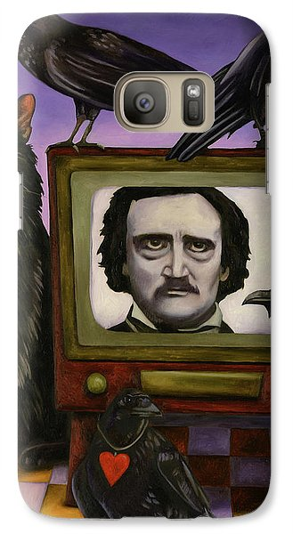 Galaxy Case featuring the painting The Poe Show by Leah Saulnier The Painting Maniac