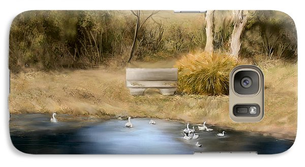 Galaxy Case featuring the painting The Pond by Bonnie Willis