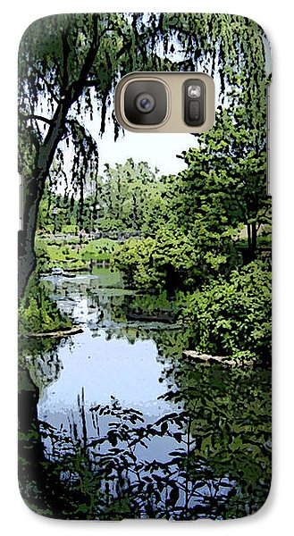 Galaxy Case featuring the photograph The Pond by Skyler Tipton