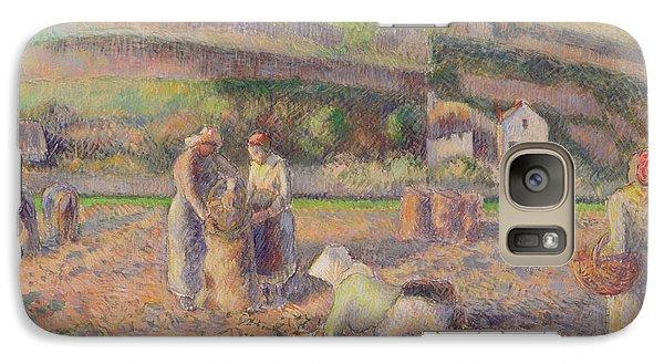 The Potato Harvest Galaxy S7 Case by Camille Pissarro