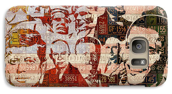 The Presidents Past Recycled Vintage License Plate Art Collage Galaxy S7 Case