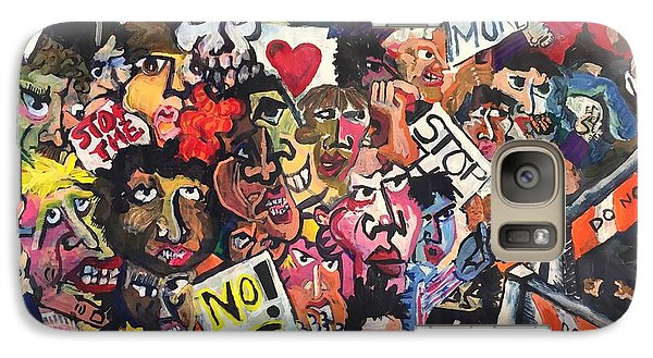 Galaxy Case featuring the painting The Protest  by Jame Hayes