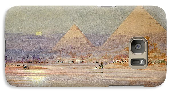 Desert Galaxy S7 Case - The Pyramids At Dusk by Augustus Osborne Lamplough