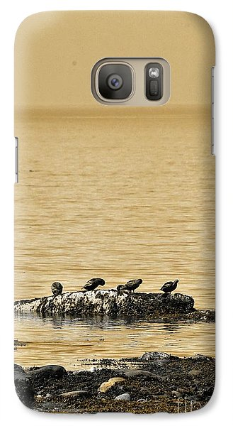 Galaxy Case featuring the photograph The Quatuor - Gold by Aimelle