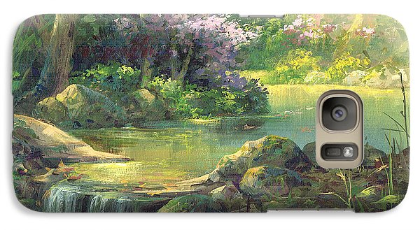 Galaxy Case featuring the painting The Quiet Creek by Michael Humphries