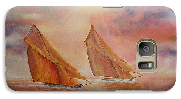 Galaxy Case featuring the painting The Race by Beatrice Cloake