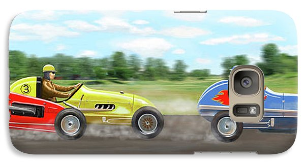 Galaxy Case featuring the digital art The Racers by Gary Giacomelli