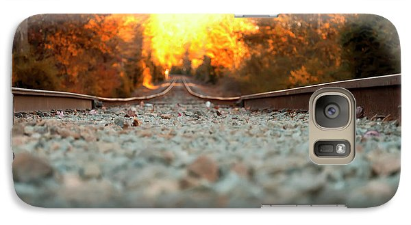Galaxy Case featuring the digital art The Railroad Tracks From A New Perspective by Chris Flees
