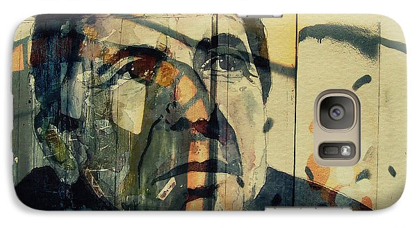 Galaxy Case featuring the painting The Rain Falls Down On Last Years Man  by Paul Lovering