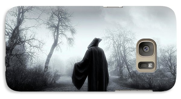 Galaxy Case featuring the photograph The Reaper Moving Through Mist And Fog by Christian Lagereek