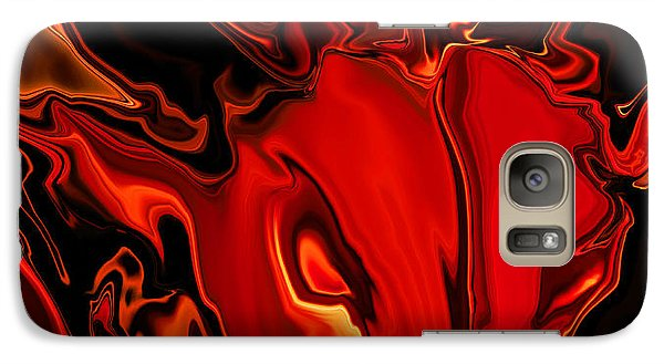 Galaxy Case featuring the digital art The Red Bull by Rabi Khan