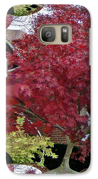 Galaxy Case featuring the photograph The Red Bushes by Skyler Tipton
