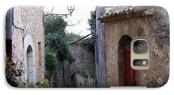 Galaxy Case featuring the photograph The Red Door by Judy Kirouac