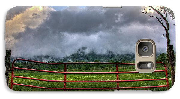 Galaxy Case featuring the photograph The Red Gate by Douglas Stucky