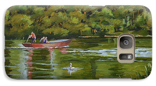 Galaxy Case featuring the painting The Red Punt by Murray McLeod