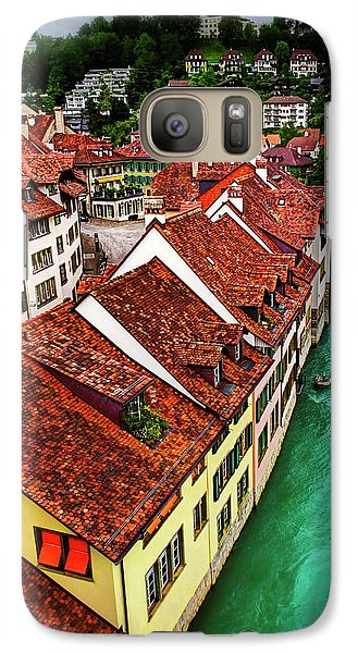 Galaxy Case featuring the photograph The Red Rooftops Of Bern Switzerland  by Carol Japp