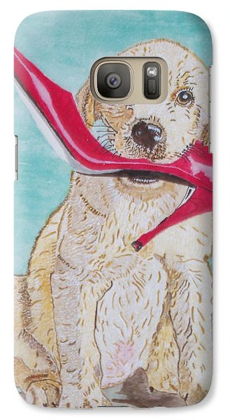 Galaxy Case featuring the painting The Red Slipper  by Connie Valasco