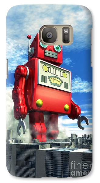 The Red Tin Robot And The City Galaxy S7 Case