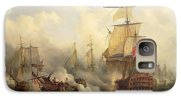 Boat Galaxy S7 Case - The Redoutable At Trafalgar by Auguste Etienne Francois Mayer