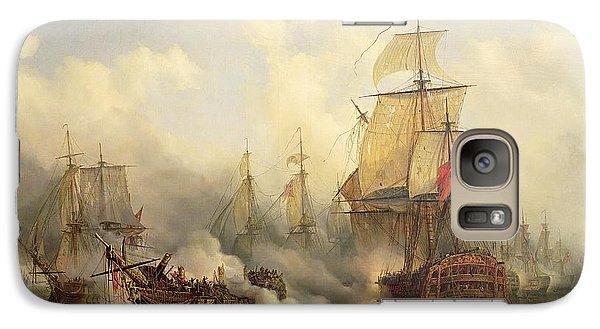 Boat Galaxy S7 Case - Unknown Title Sea Battle by Auguste Etienne Francois Mayer