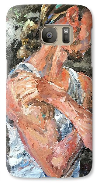 Galaxy Case featuring the painting The Reflective Pause by Diane Daigle