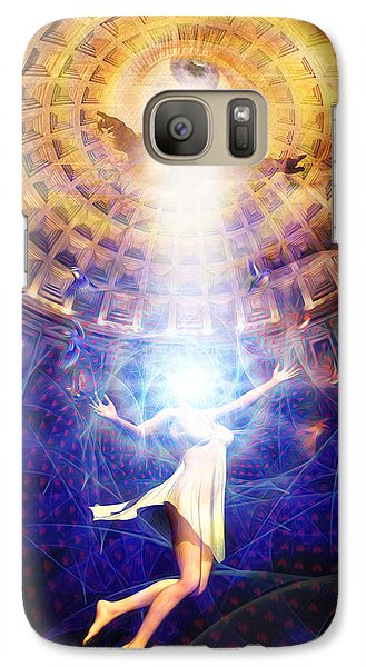 Galaxy Case featuring the painting The Release Of Religious Dogma by Robby Donaghey