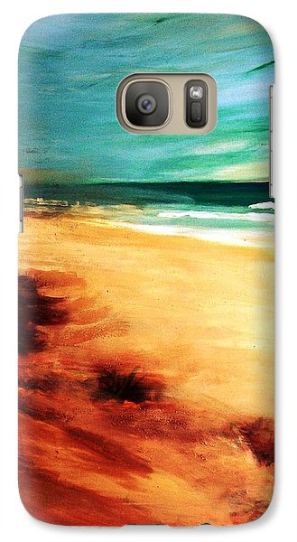 Galaxy S7 Case featuring the painting The Remaining Pine by Winsome Gunning